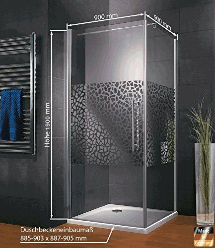 Duschkabine mit Drehtür und Terrazzo Dekor von Schulte - 2