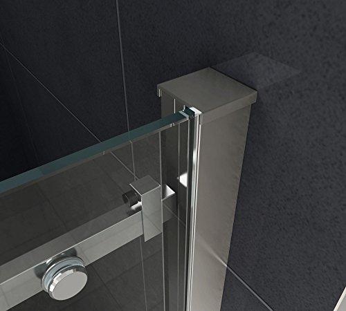 Designer Duschtür Schiebetür MORA mit Easy-Clean-Oberflächenbeschichtung - 4