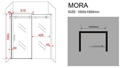 Designer Duschtür Schiebetür MORA mit Easy-Clean-Oberflächenbeschichtung - 6