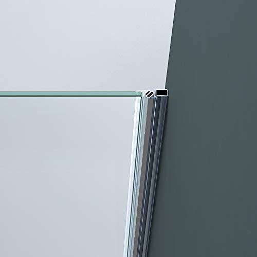 Rahmenlose Duschtür Drehtür Teramo24 mit Nanobeschichtung - 4