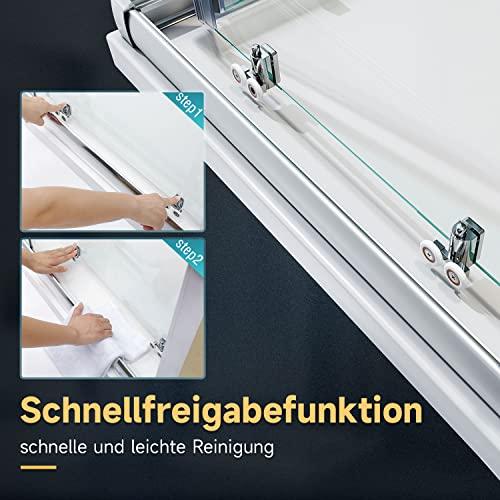 Duschkabine mit Eckeinstieg und Doppelschiebetüren - 3