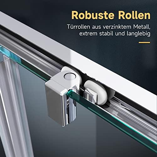 Duschkabine mit Eckeinstieg und Doppelschiebetüren - 4