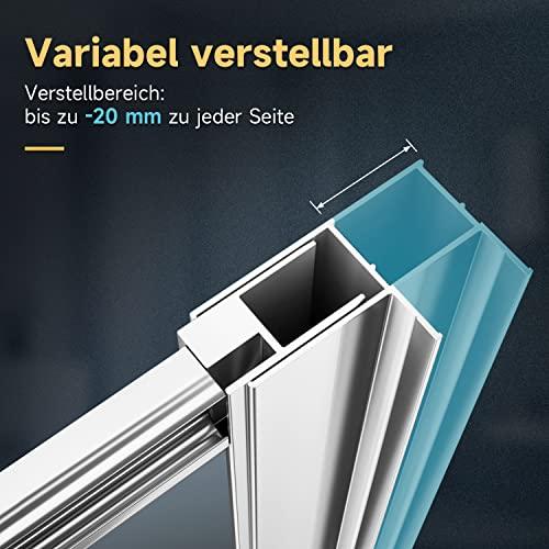 Duschkabine mit Eckeinstieg und Doppelschiebetüren - 5