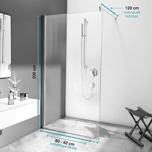 bijon Designer Duschwand mit auswählbarem Glas und Nanobeschichtung - 4