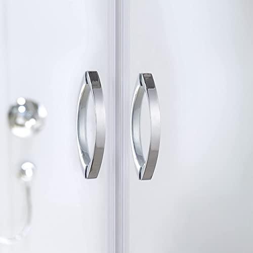 Designer Duschkabine mit Pendeltüren und Lotoseffekt - 4