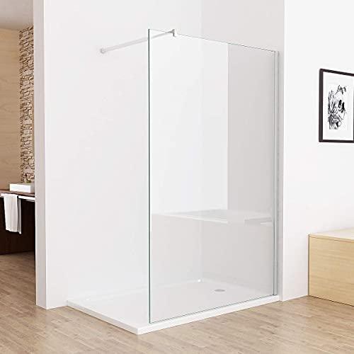 Walk In Duschwand aus Klarglas mit Nanobeschichtung von MIQU