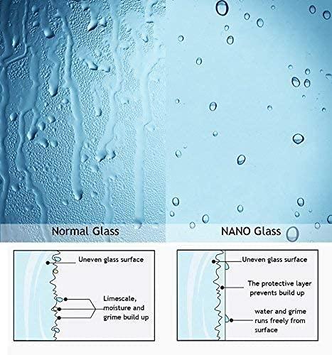 Walk In Duschwand aus Klarglas mit Nanobeschichtung von MIQU - 5