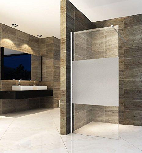Teilsatinierte Duschwand ENTRY-PF mit Beschichtung für leichtere Reinigung