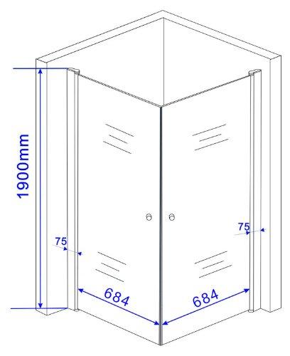 Rahmenlose Duschkabine BANHO - 3