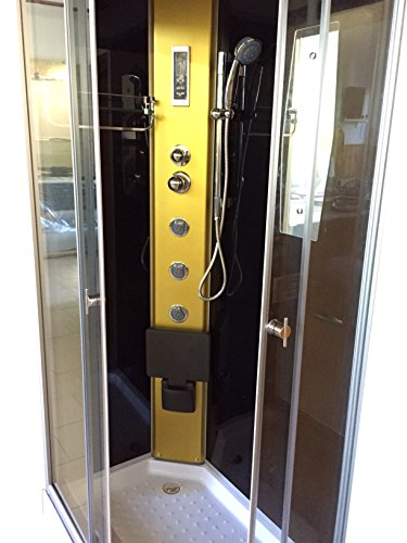 Dusche Duschkabine Duschtempel Duschabtrennung Fertigdusche Eckdusche Komplett Portofino - 3