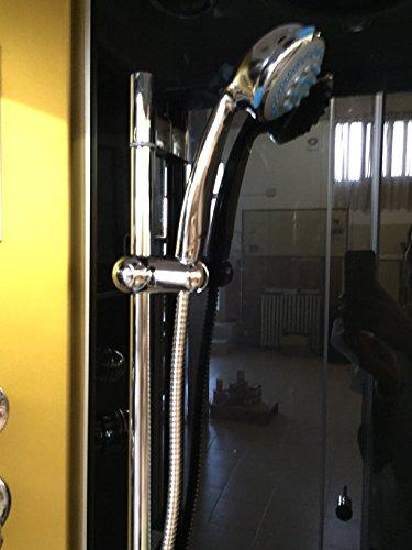 Dusche Duschkabine Duschtempel Duschabtrennung Fertigdusche Eckdusche Komplett Portofino - 4