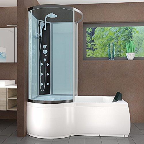 AcquaVapore DTP8050-A000R Wanne Duschtempel Badewanne Dusche Duschkabine 98x170, EasyClean Versiegelung der Scheiben:2K Scheiben Versiegelung +79.-EUR - 3