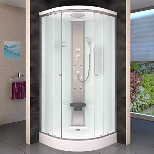 AcquaVapore DTP10-1010 Dusche Duschtempel Duschkabine Fertigdusche 90x90, EasyClean Versiegelung der Scheiben:2K Scheiben Versiegelung +79.-EUR - 2