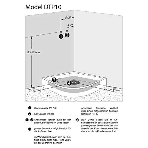 AcquaVapore DTP10-1010 Dusche Duschtempel Duschkabine Fertigdusche 90x90, EasyClean Versiegelung der Scheiben:2K Scheiben Versiegelung +79.-EUR - 5