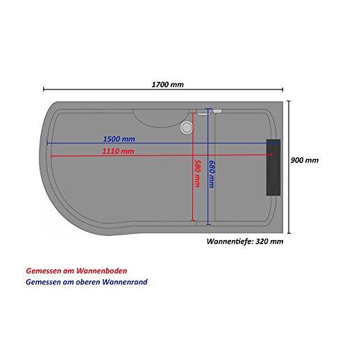 Home Deluxe Duschtempel | All in 4in1 | Schwarz | Links | inkl. Dampfsauna und komplettem Zubehör - 6