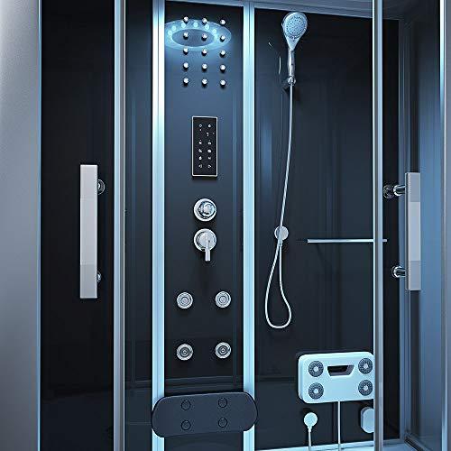 Home Deluxe | Duschtempel | Diamond | inkl. Whirlpool und Dampfsauna | schwarz - 5