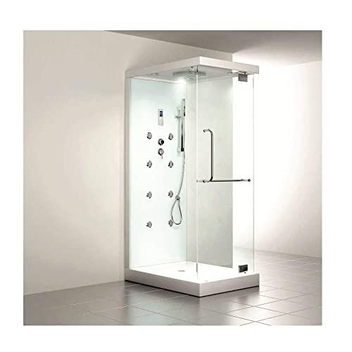 Moderner U-Form Duschtempel Design M mit Dampffunktion