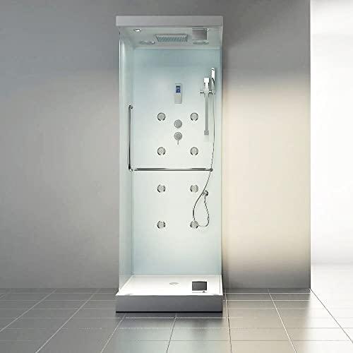 Moderner U-Form Duschtempel Design M mit Dampffunktion - 4