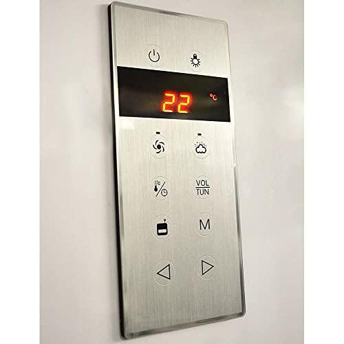 Moderner U-Form Duschtempel Design M mit Dampffunktion - 6