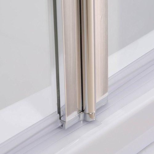 Melko® Duschabtrennung Badewannenaufsatz aus 5 mm ESG Sicherheitsglas, faltbar, 131,6 x 109 cm, Klarglas, inkl. Zubehör - 7