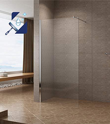 Satinierte Walk-In Duschwand der Serie DIAMOND mit Nanobeschichtung