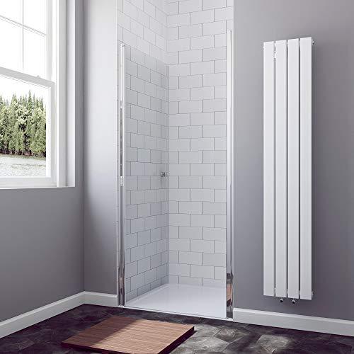 76cm Duschwand Duschtür Nischentür Pendeltür Schwingtür Duschabtrennung Duschkabine Echtglas, Höhe 190cm - 3