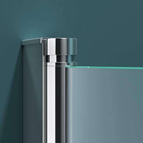 Faltwand Badewanne 120x140cm Badewannenaufsatz Duschwand 180° ESG Teilsatiniert NANO C1408SL Mai&Mai - 5