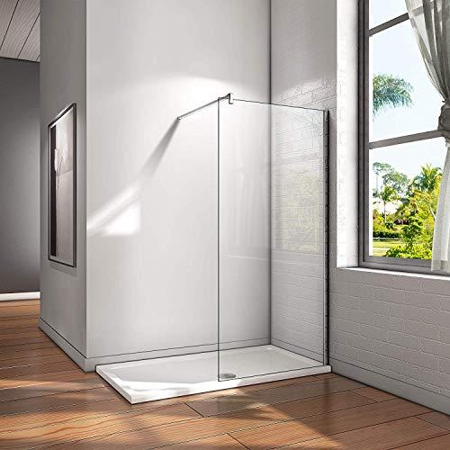Walk in Duschtrennwand mit wählbarer Glasart und Nanobeschichtung