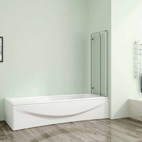 Badewannenaufsatz 80x140cm Duschabtrennung Duschwand für Badewanne 5mm Sicherheitsglas - 2