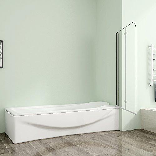 Badewannenaufsatz 80x140cm Duschabtrennung Duschwand für Badewanne 5mm Sicherheitsglas - 3