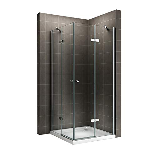 Duschkabine mit Eckeinstieg und Falttüren