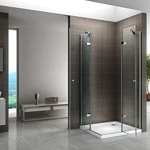 Duschkabine mit Eckeinstieg, Falttüren und Nanobeschichtung - 4