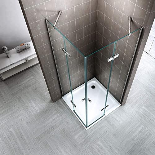 Duschkabine mit Eckeinstieg, Falttüren und Nanobeschichtung - 3