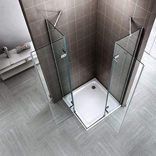 Duschkabine mit Eckeinstieg, Falttüren und Nanobeschichtung - 2