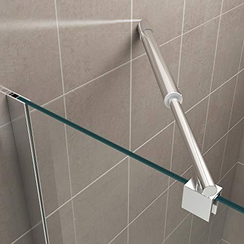 Duschkabine mit Eckeinstieg, Falttüren und Nanobeschichtung - 5
