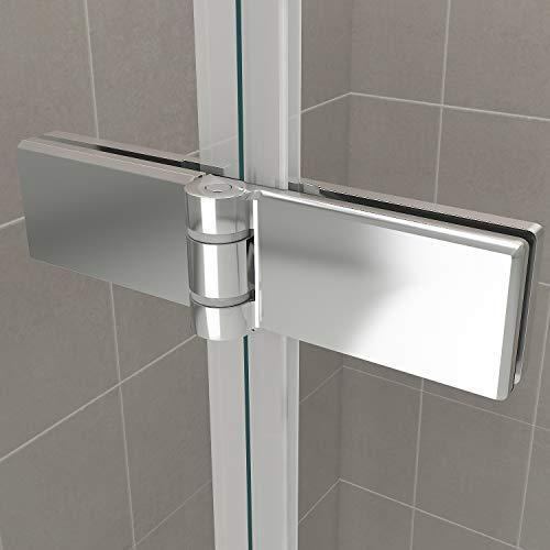 Duschkabine mit Eckeinstieg, Falttüren und Nanobeschichtung - 6