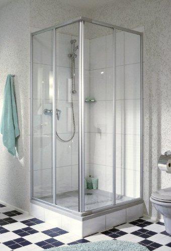 """Duschkabine mit Eckeinstieg und Schiebetür """"Kretana"""" von Breuer"""