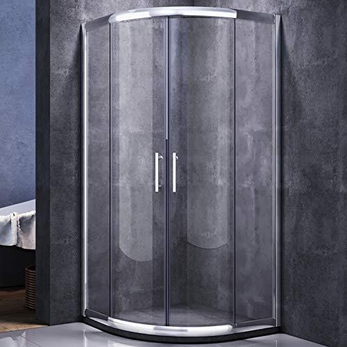 Runde Duschkabine mit Vollrahmen und Schiebetüren