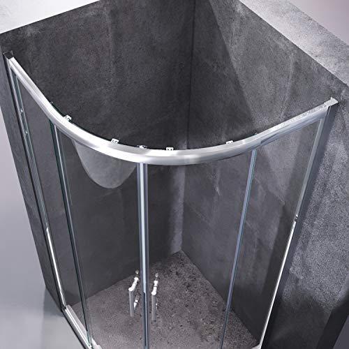 Runde Duschkabine mit Vollrahmen und Schiebetüren - 2