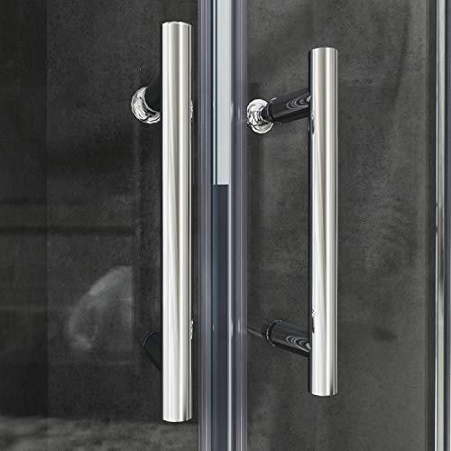 Runde Duschkabine mit Vollrahmen und Schiebetüren - 9