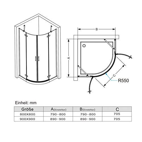 Runddusche mit Falttüren und Nanobeschichtung von MIQU - 2