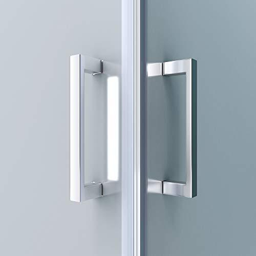 Duschkabine 70x70 Eckeinstieg Hebe-Senk Mechanismus Duschabtrennung ESG-Sicherheitsglas Lotus-Effekt Faltbar Ravenna24ms - 5