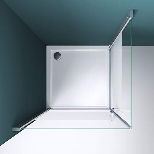 Duschkabine 70x70 Eckeinstieg Hebe-Senk Mechanismus Duschabtrennung ESG-Sicherheitsglas Lotus-Effekt Faltbar Ravenna24ms - 6