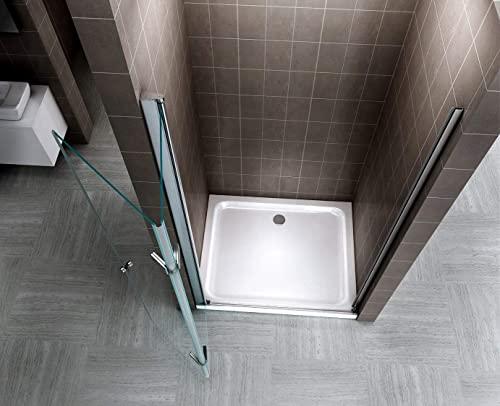 Rahmenlose Duschtür Falttür aus Klarglas mit Nanobeschichtung - 5
