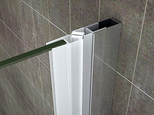 Rahmenlose Duschtür Falttür aus Klarglas mit Nanobeschichtung - 8