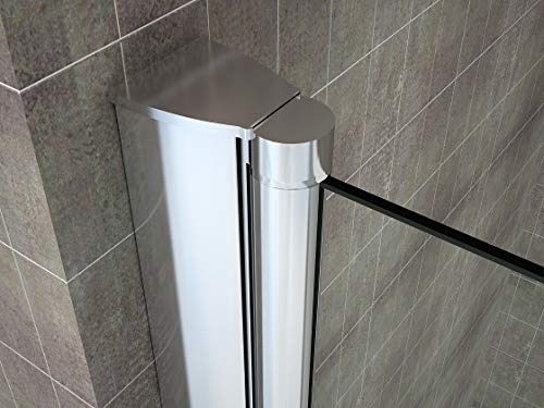 Rahmenlose Duschtür Falttür aus Klarglas mit Nanobeschichtung - 9