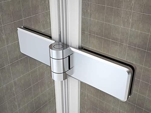 Rahmenlose Duschtür Falttür aus Klarglas mit Nanobeschichtung - 7