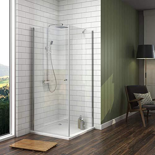 Duschkabine mit fester Seitenwand und Drehtür von Meykoe - 2