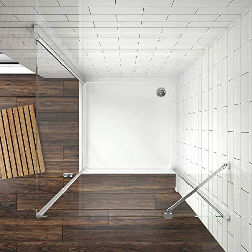 Duschkabine mit fester Seitenwand und Drehtür von Meykoe - 3