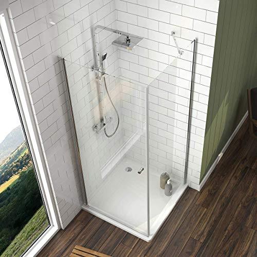 Duschkabine mit fester Seitenwand und Drehtür von Meykoe - 4